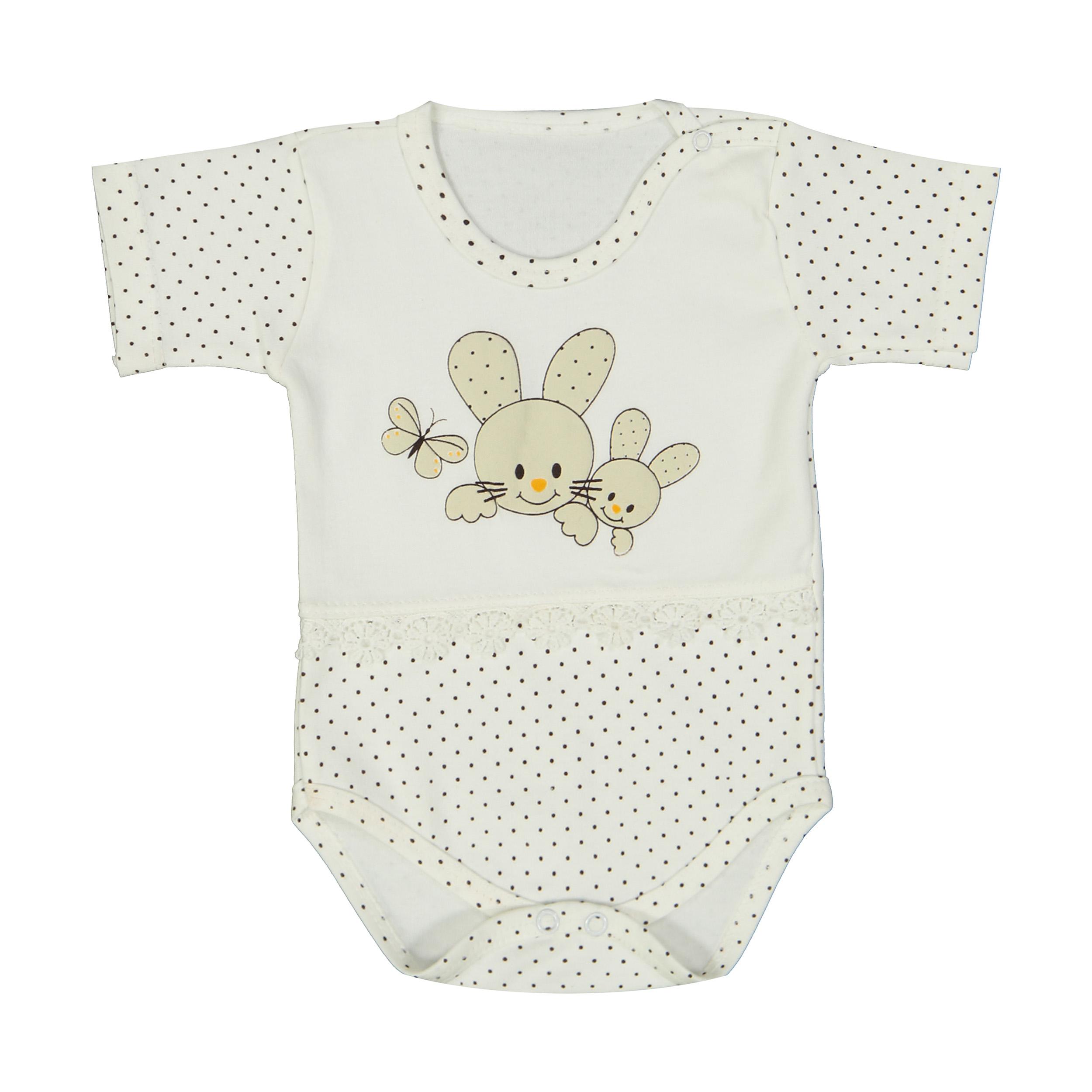 بادی نوزادی دخترانه طرح خرگوش کوچولو