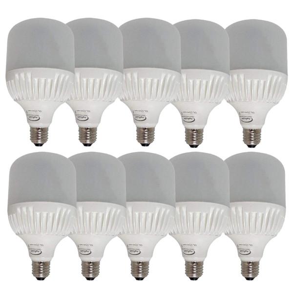 لامپ ال ای دی 30 وات خزرشید مدل H01 پایه E27 بسته 10 عددی
