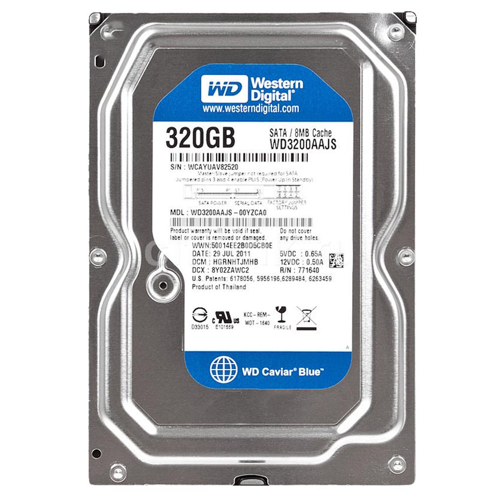 هارد دیسک اینترنال وسترن دیجیتال مدل WD BLUE WD3200AAJS ظرفیت 320 گیگابایت