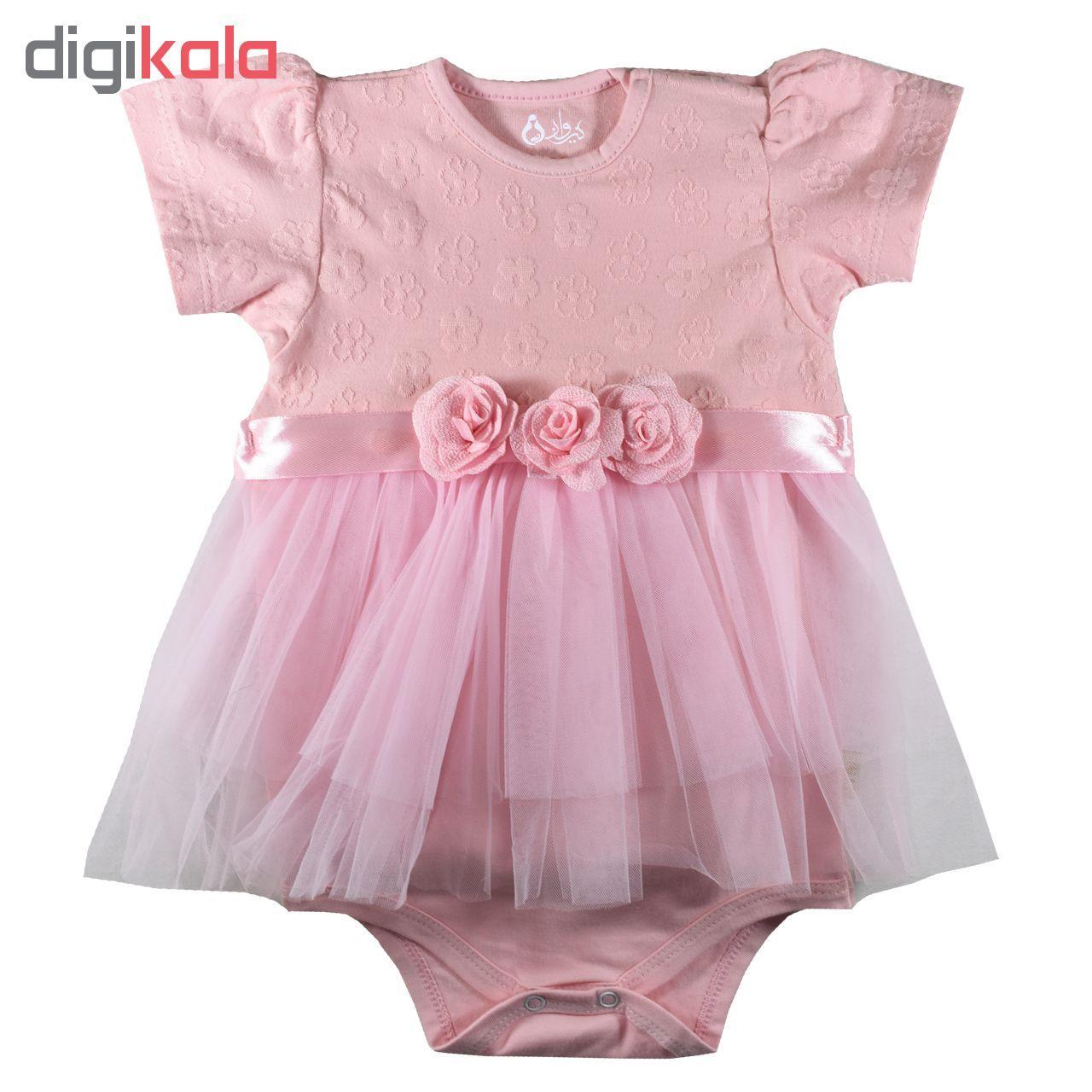 بادی نوزادی دخترانه نیروان مدل Q6 -  - 1