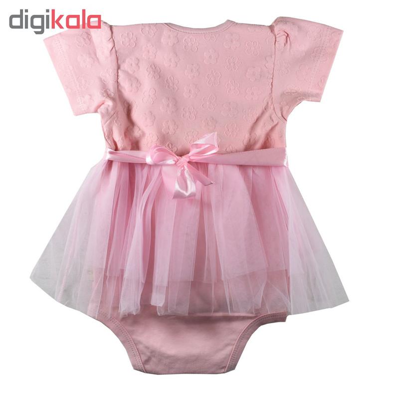 بادی نوزادی دخترانه نیروان مدل Q6