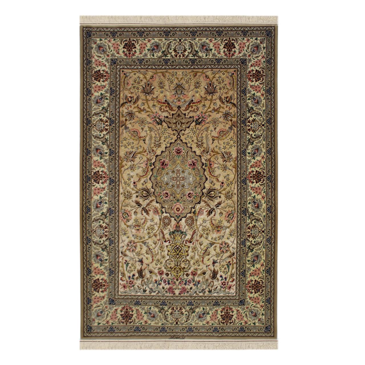 فرش  دستبافت  سه متری اصفهان آبتین کد 1105682