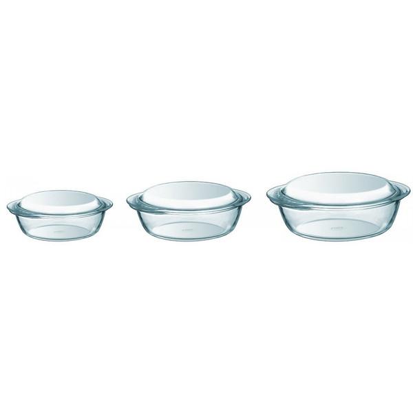 ظرف پخت پیرکس مدل borosilicate مجموعه سه عددی