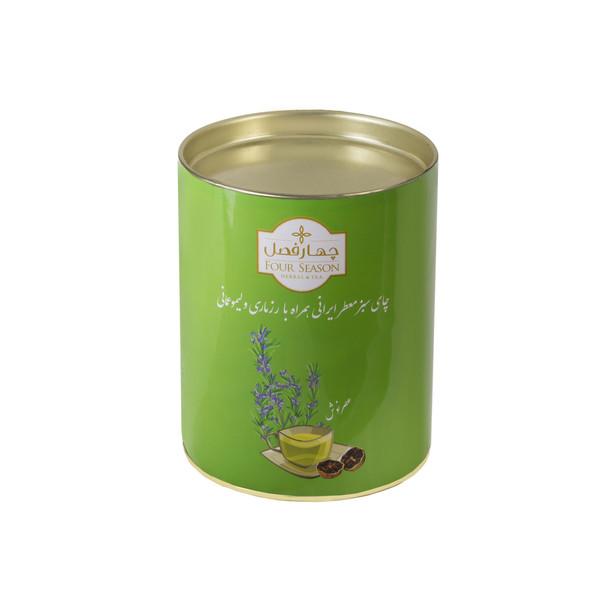 چای سبز ایرانی همراه رزماری و لیمو عمانی چهارفصل مقدار 70 گرم