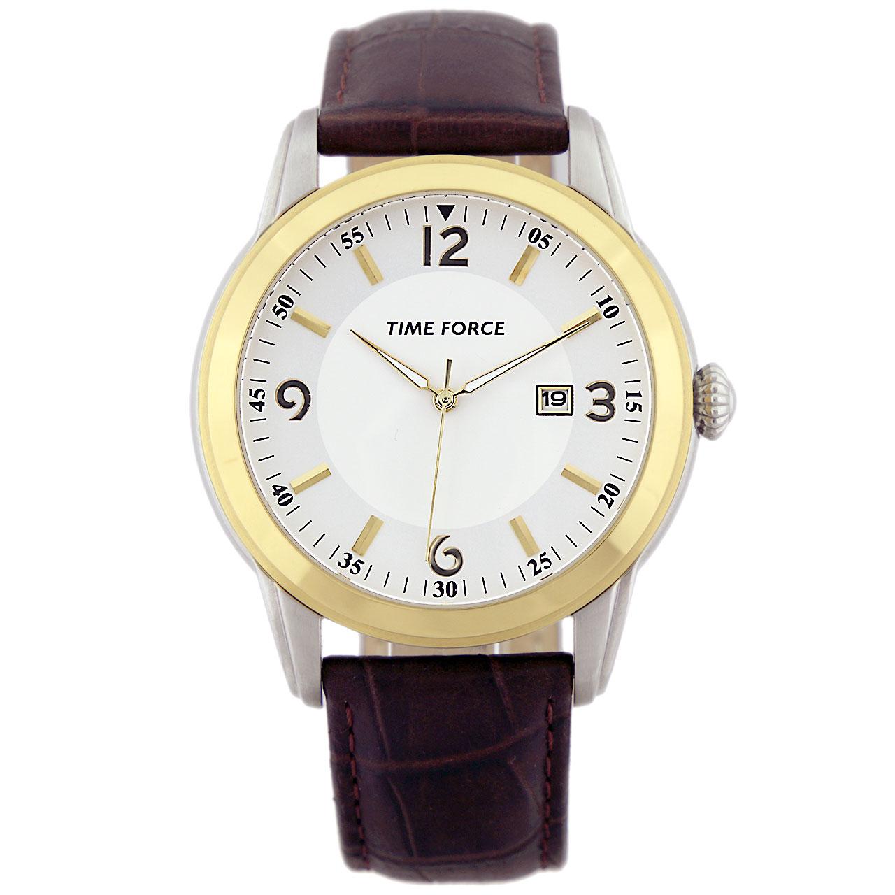 ساعت مچی عقربه ای مردانه تایم فورس مدل TF4098M09