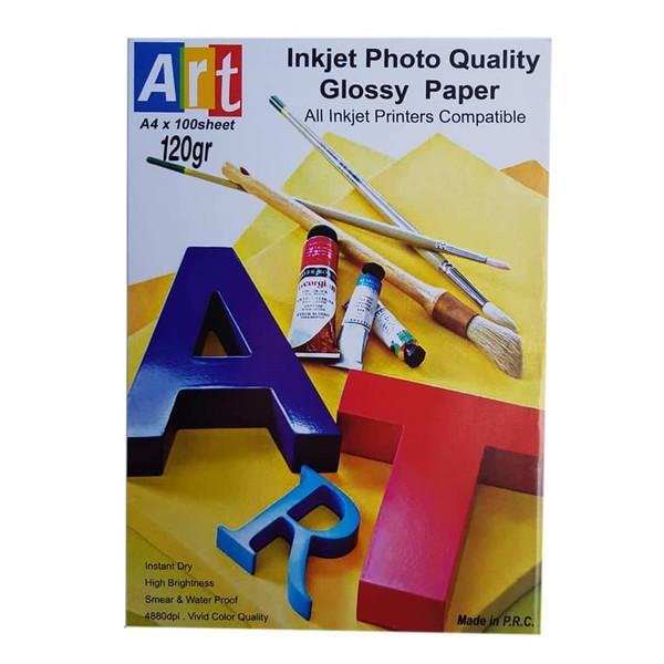 کاغذ چاپ عکس گلاسه آرت مدل PHG-120 سایز A4 بسته 100 عددی