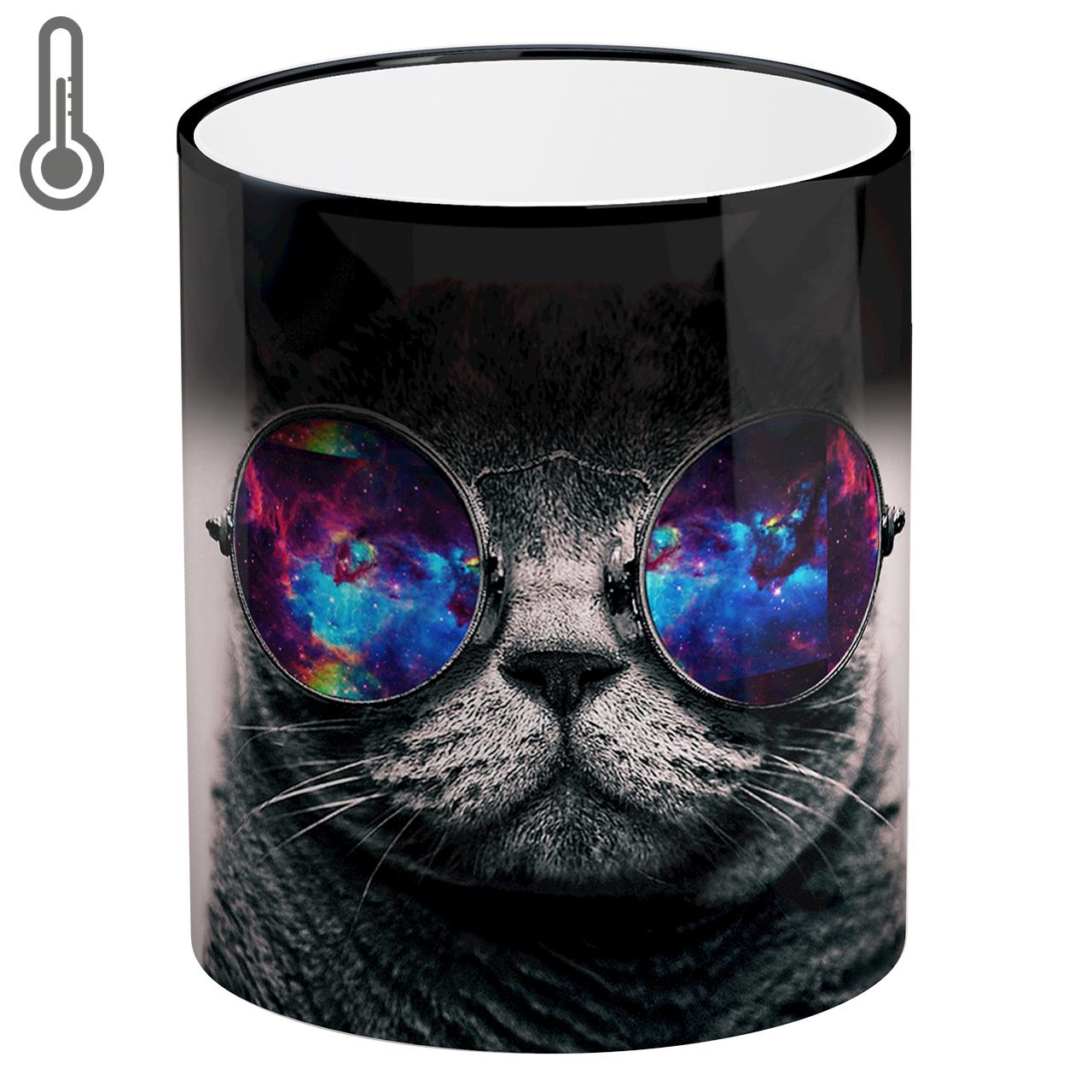 ماگ حرارتی لومانا طرح گربه کد MAG1604