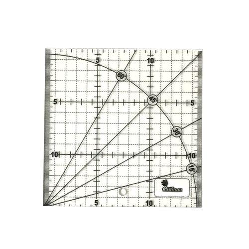 خط کش 15سانتی متری گلدون طرح الفا کد G 15*15