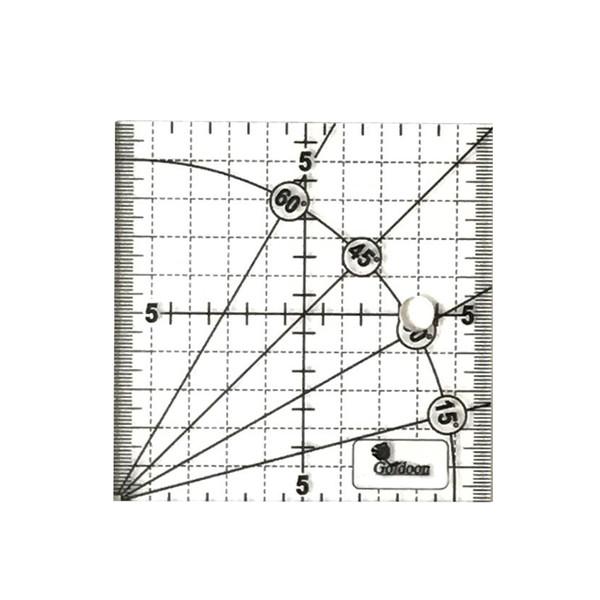 خطکش 10سانتی متری گلدون طرح الفا کد G 10*10