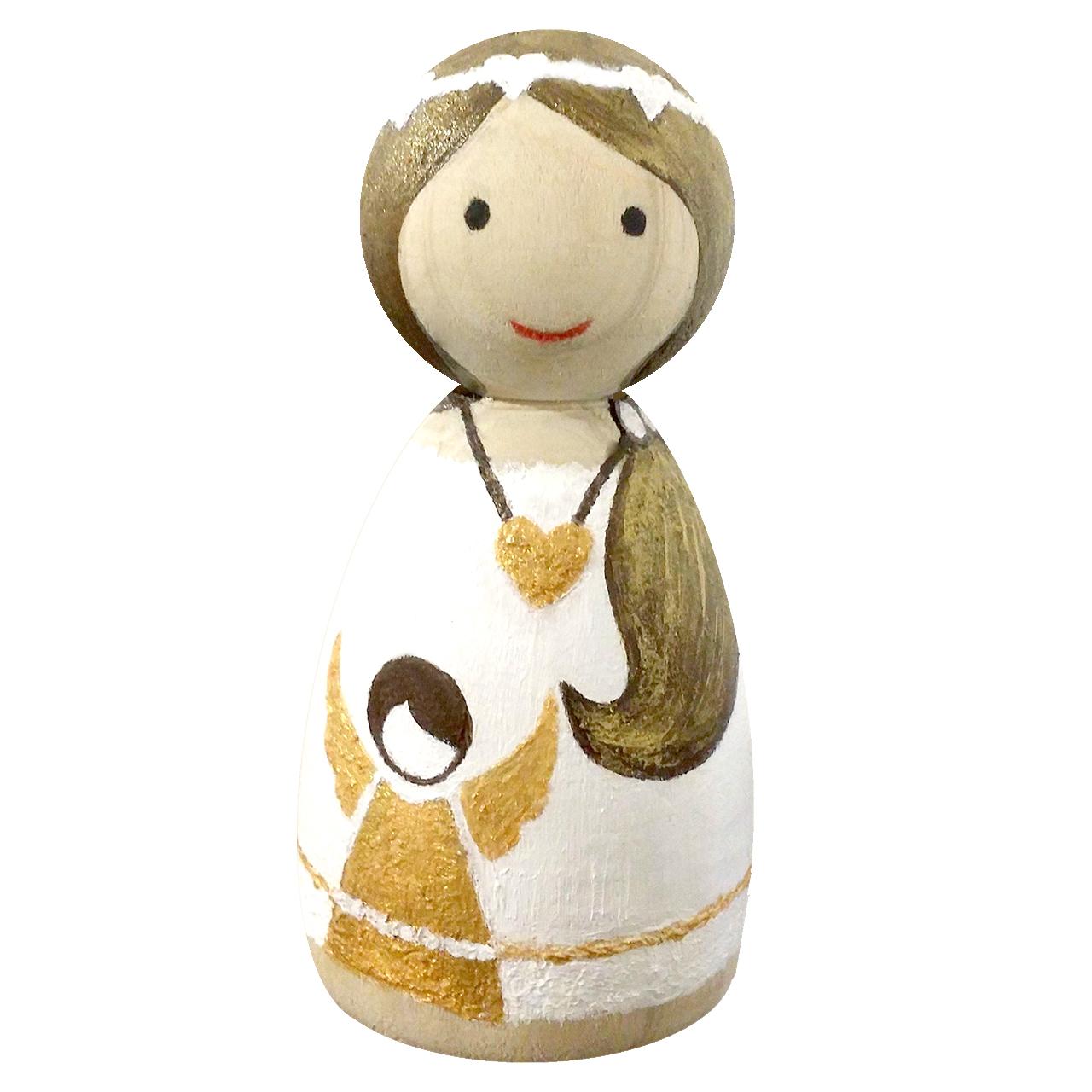 مجسمه چوبی مدل مادر و فرشته کوچولو کد 01dmombaby