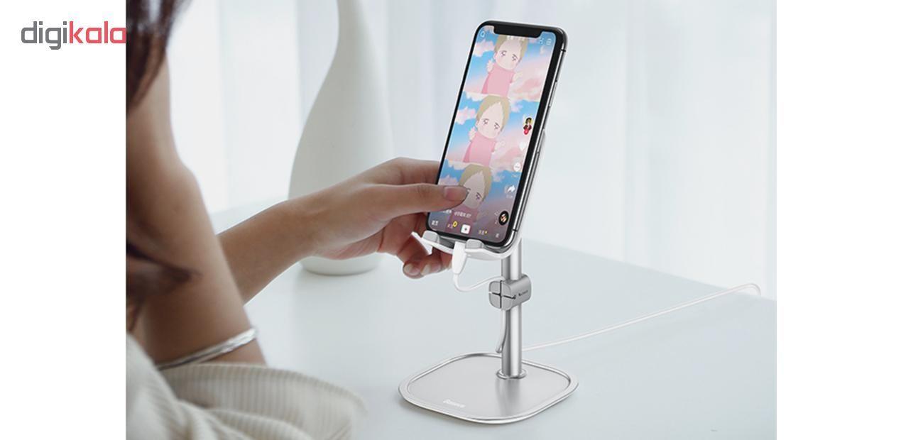 پایه نگهدارنده گوشی موبایل و تبلت باسئوس مدل SUWY main 1 4
