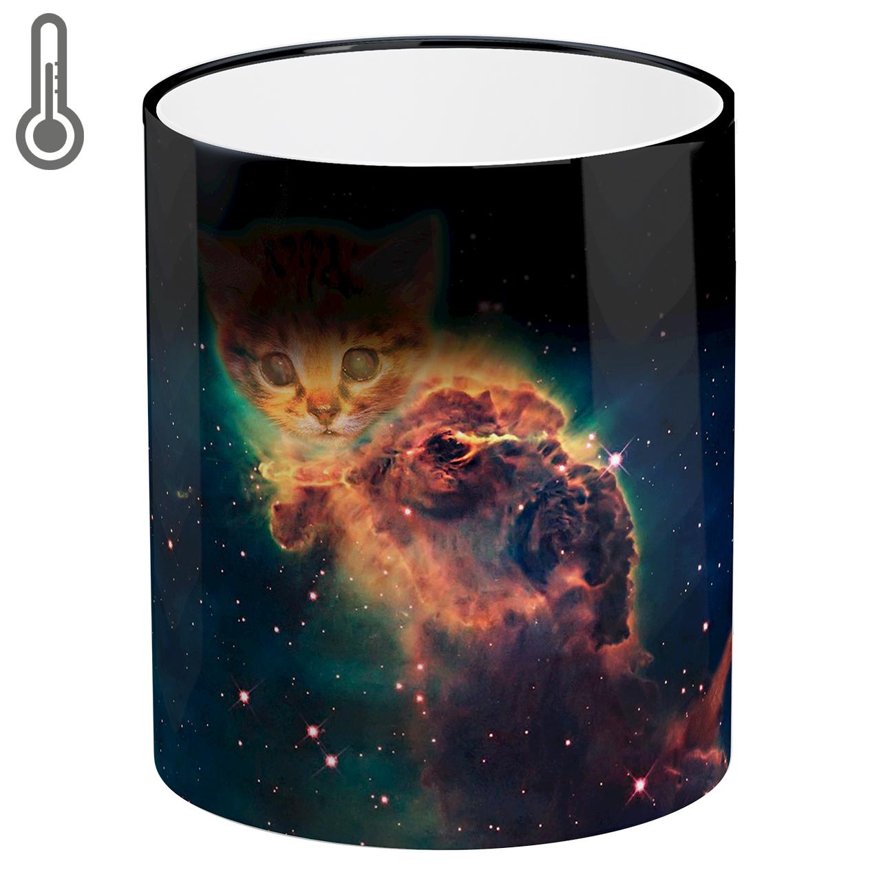 عکس ماگ حرارتی لومانا طرح گربه کد MAG1604