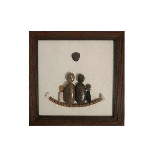 تابلو سنگی طرح خانواده شاد