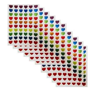 استیکر کودک طرح قلب مدل s115 بسته 10 عددی