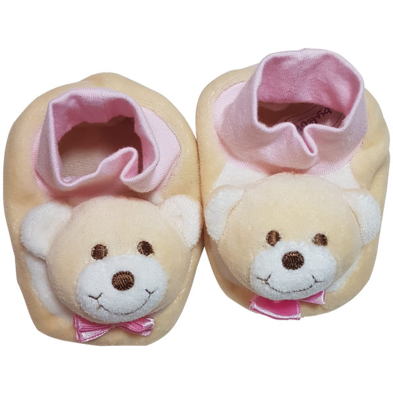 پاپوش نوزادی دخترانه بی بی بو طرح خرس مدل n146