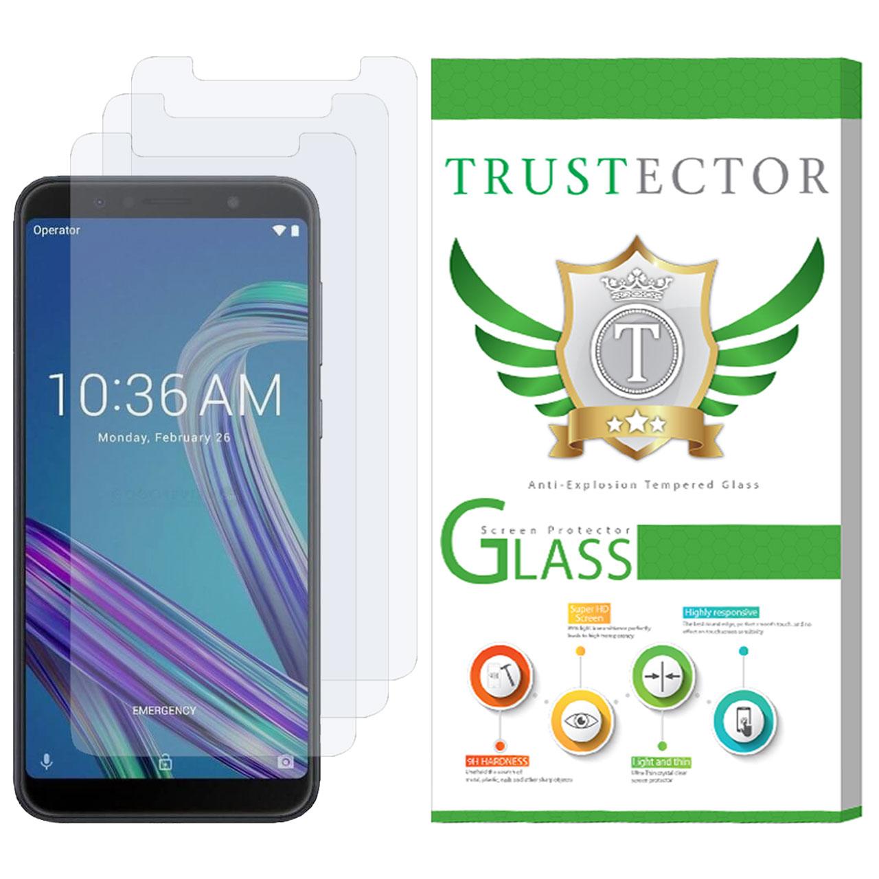 محافظ صفحه نمایش تراستکتور مدل GLS مناسب برای گوشی موبایل ایسوس Zenfone Max Pro M1 ZB602K بسته 3 عددی              ( قیمت و خرید)