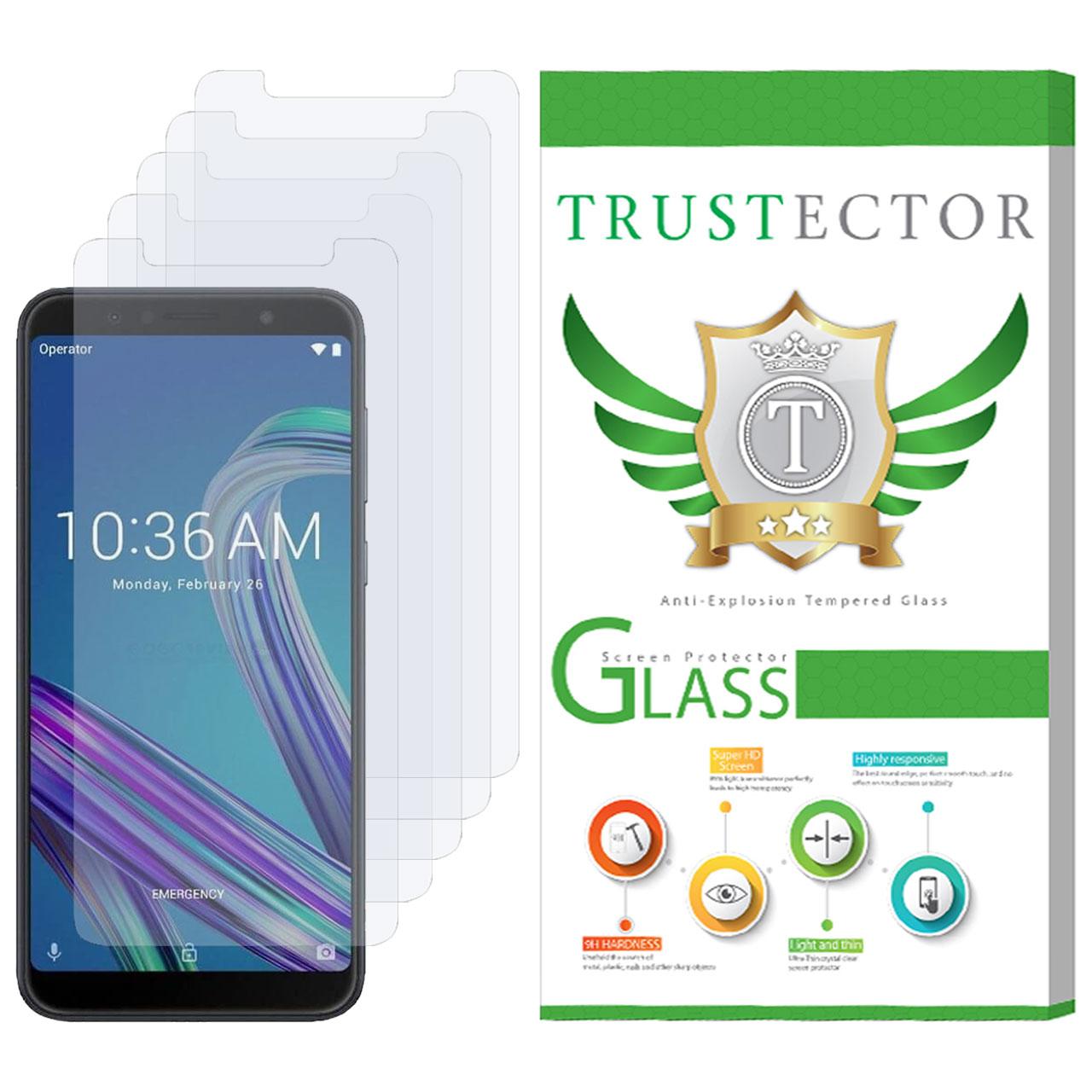 محافظ صفحه نمایش تراستکتور مدل GLS مناسب برای گوشی موبایل ایسوس Zenfone Max Pro M1 ZB602K  بسته 5 عددی