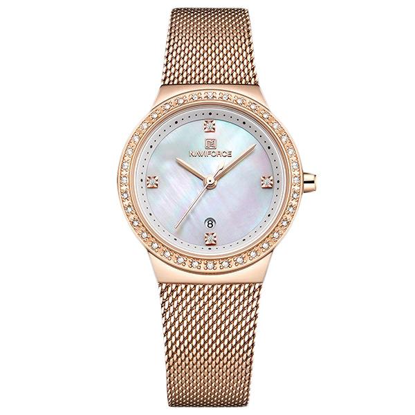 ساعت مچی عقربه ای زنانه نیوی فورس مدل NF5005-RG-WH