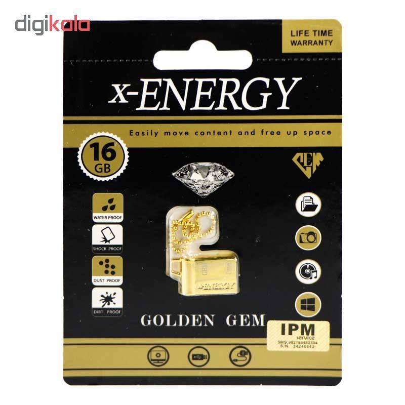 فلش مموری ایکس-انرژی مدل GOLDEN GEM ظرفیت 16 گیگابایت main 1 2