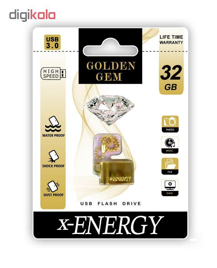 فلش مموری ایکس-انرژی مدل GOLDEN GEM ظرفیت 32 گیگابایت