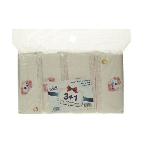 دستمال کاغذی 150 برگ ایزی پیک مدل Luxury بسته 4 عددی