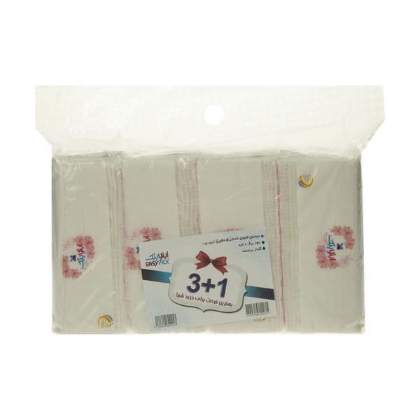دستمال کاغذی 150 برگ دو لایه ایزی پیک مدل Luxury بسته 4 عددی