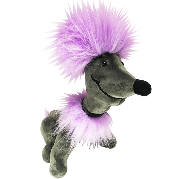 عروسک شوک طرح Violet hairy dog ارتفاع 27 سانتی متر