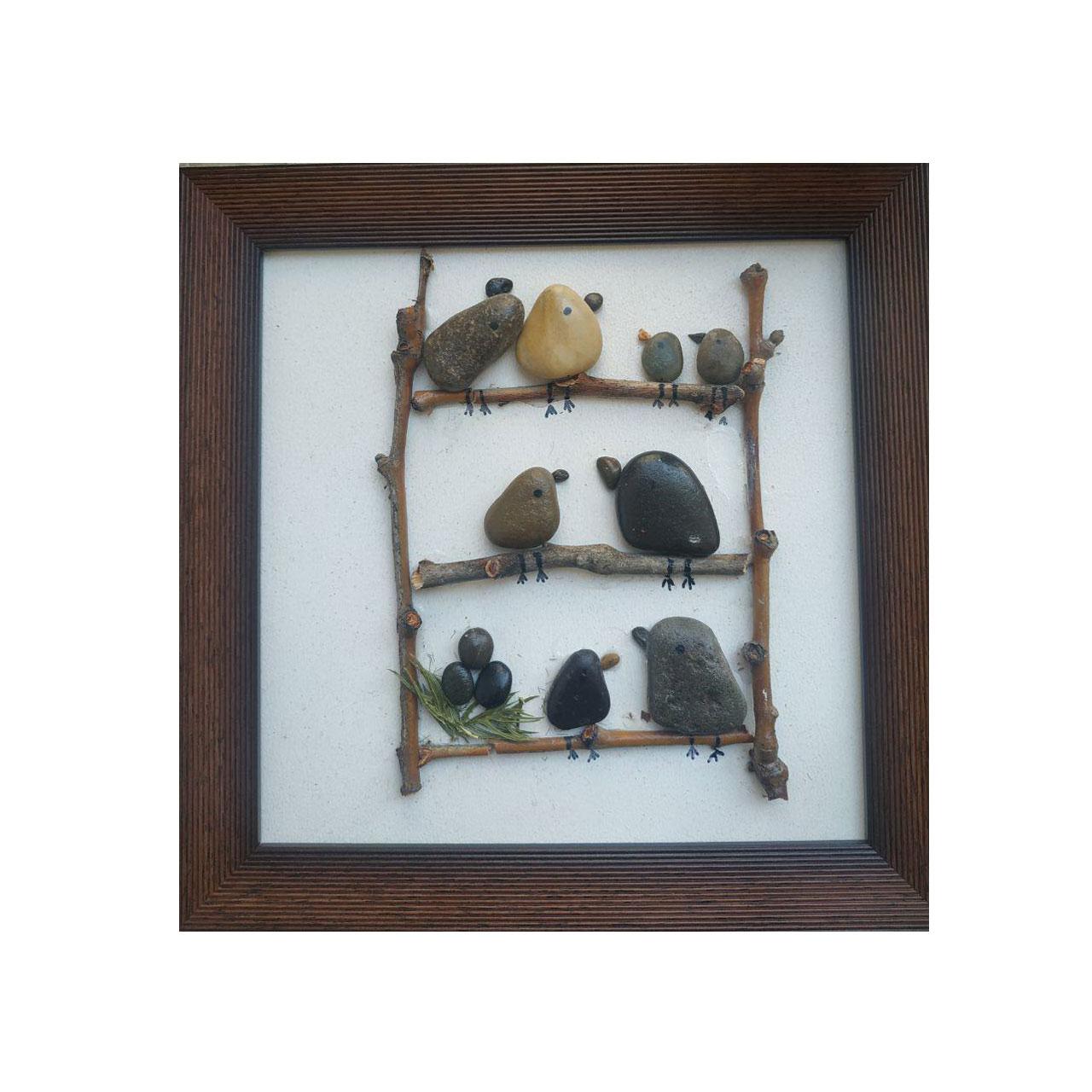 خرید                      تابلو سنگی طرح آپارتمان پرندگان