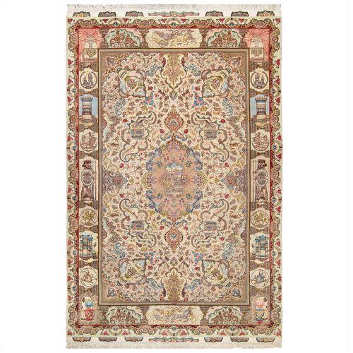 فرش دستباف هشت و نیم متری طرح گل نامی مدل  32568
