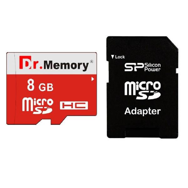 کارت حافظه microSDHC دکتر مموری مدل DR6022RVB کلاس 10 استاندارد UHS-I U1 سرعت 80MBps ظرفیت 8 گیگابایت به همراه آداپتور microSD