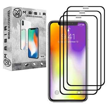 محافظ صفحه نمایش مسیر مدل MGF-3 مناسب برای گوشی موبایل اپل iPhone XS/XSMAX  بسته سه عددی