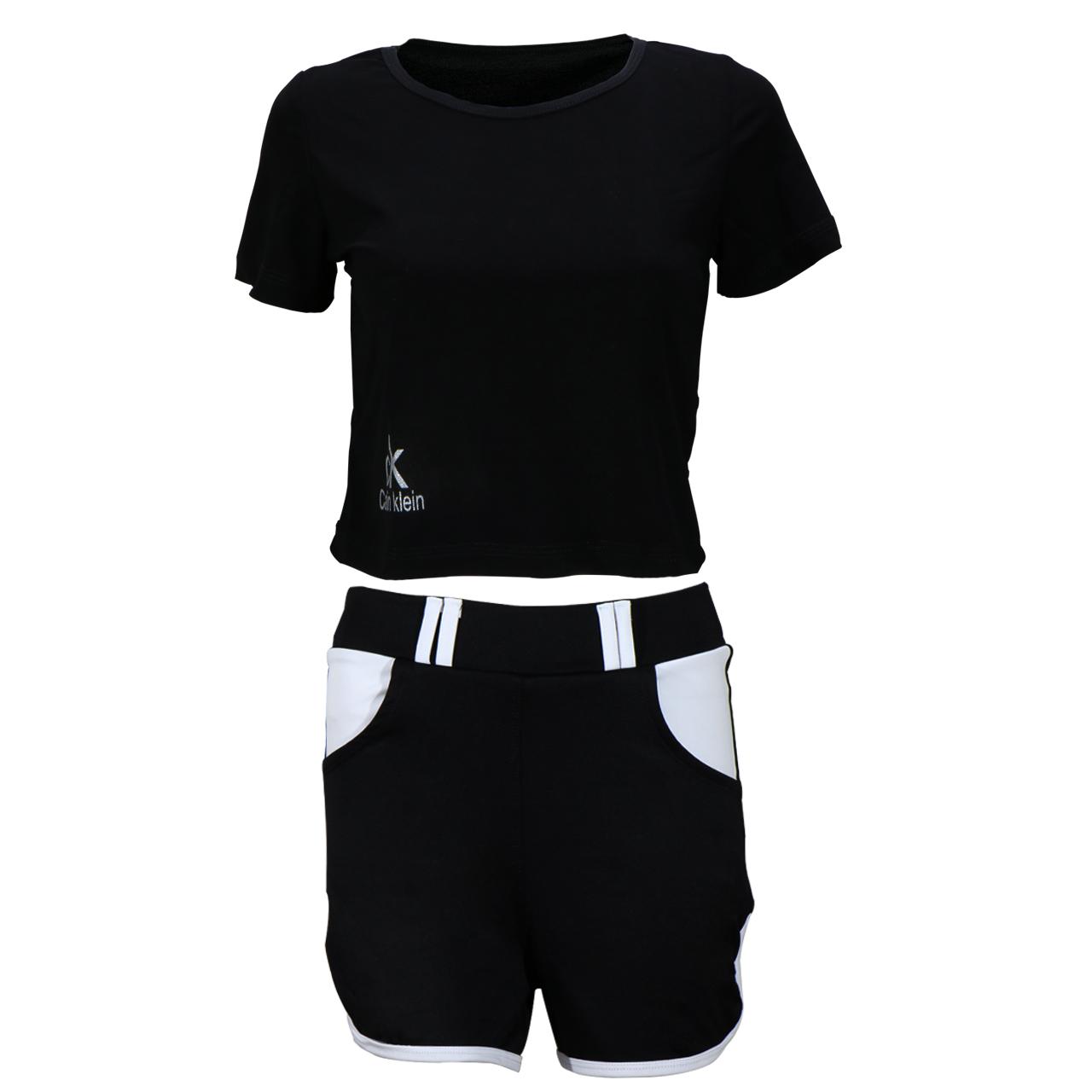 ست تیشرت و شلوارک ورزشی زنانه کد B005
