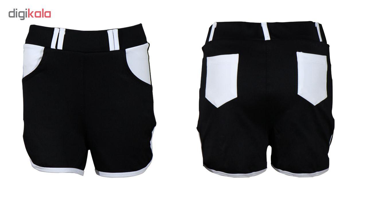 خرید                                      ست تیشرت و شلوارک ورزشی زنانه کد B005                     غیر اصل