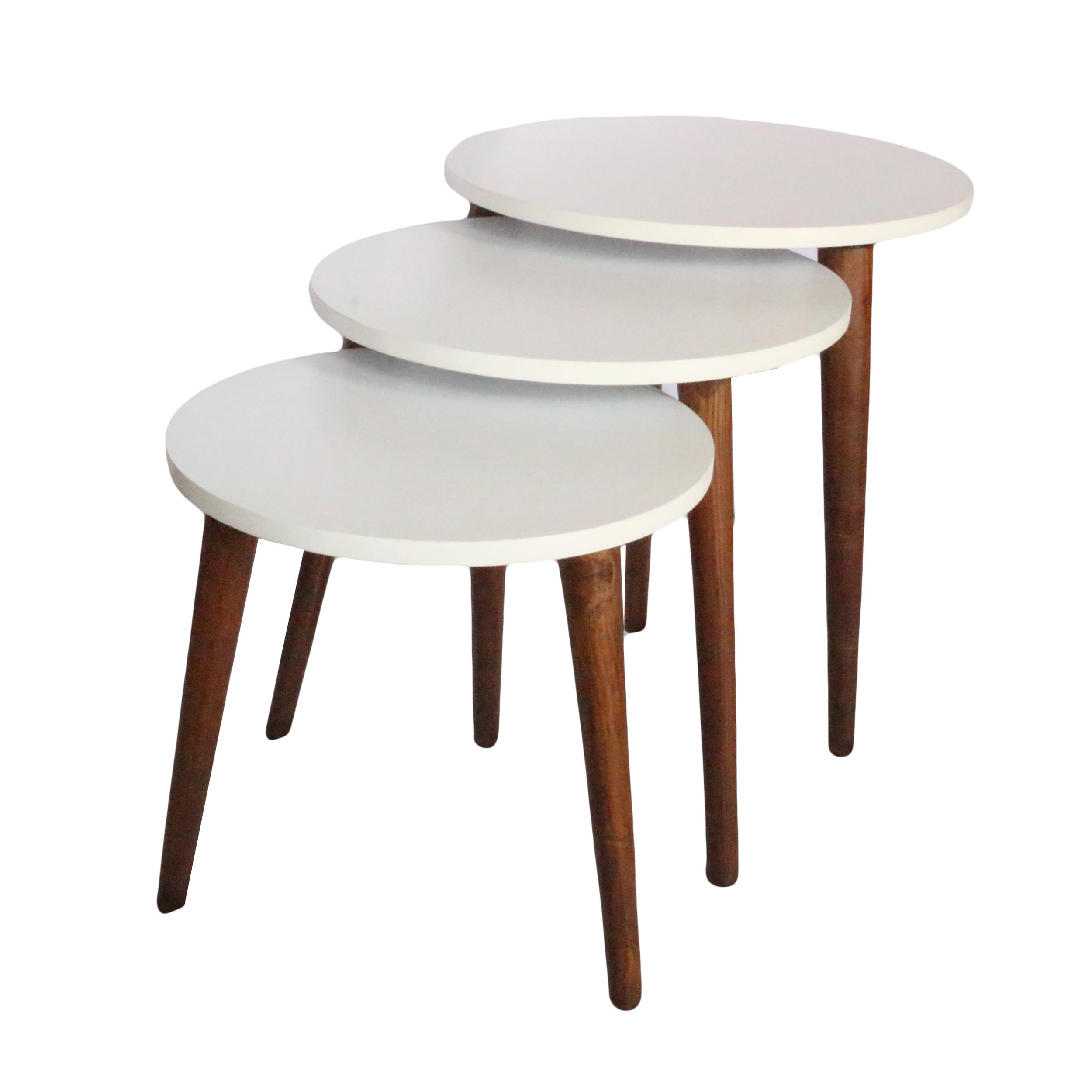 میز عسلی مدل ADCS01 مجموعه 3 عددی