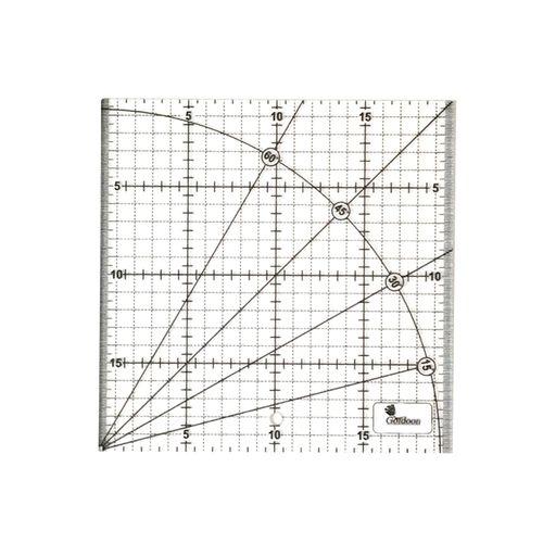 خط کش 20 سانتی متری گلدون طرح الفا کد G 20*20