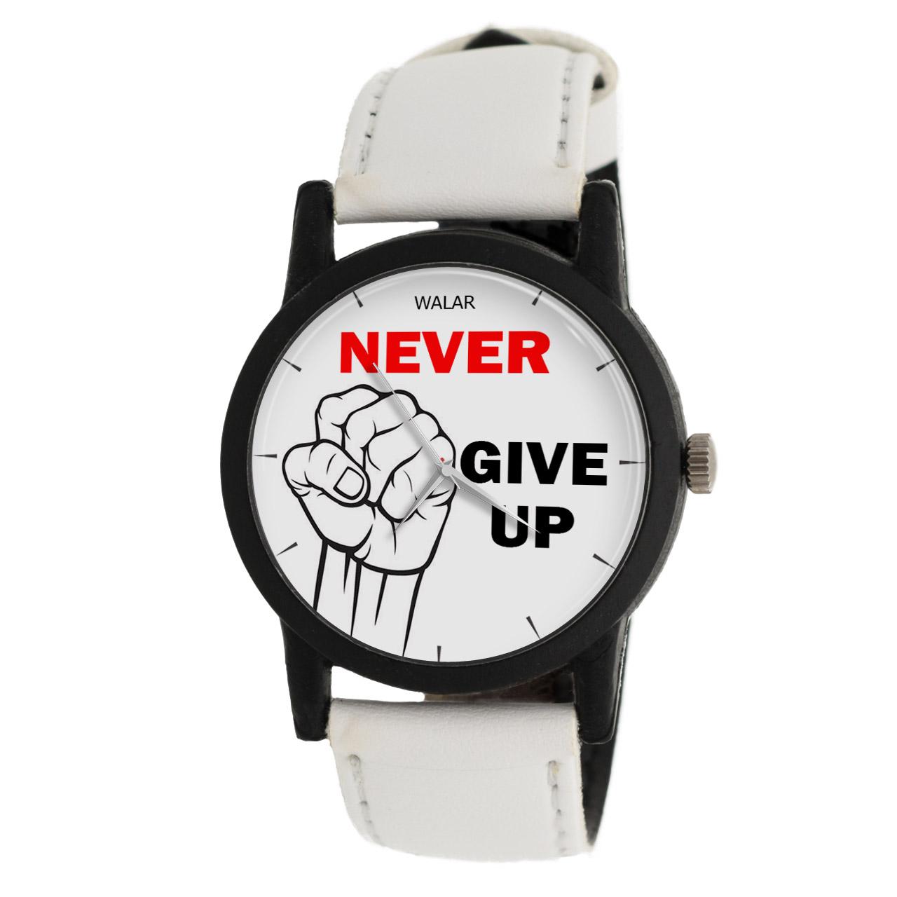 ساعت مچی عقربه ای والار طرح Never Give Up مدل LF1386