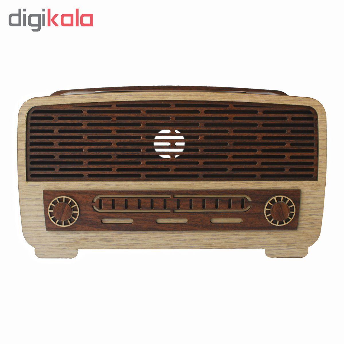 جعبه دستمال کاغذی طرح رادیو کد drk1 main 1 1