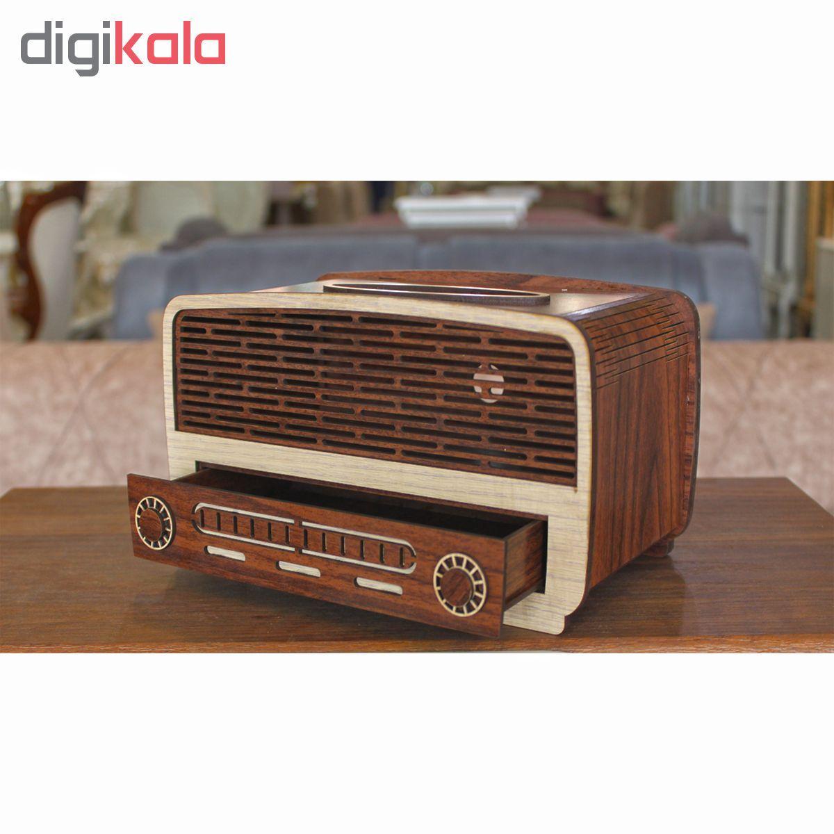 جعبه دستمال کاغذی طرح رادیو کد drk1 main 1 2