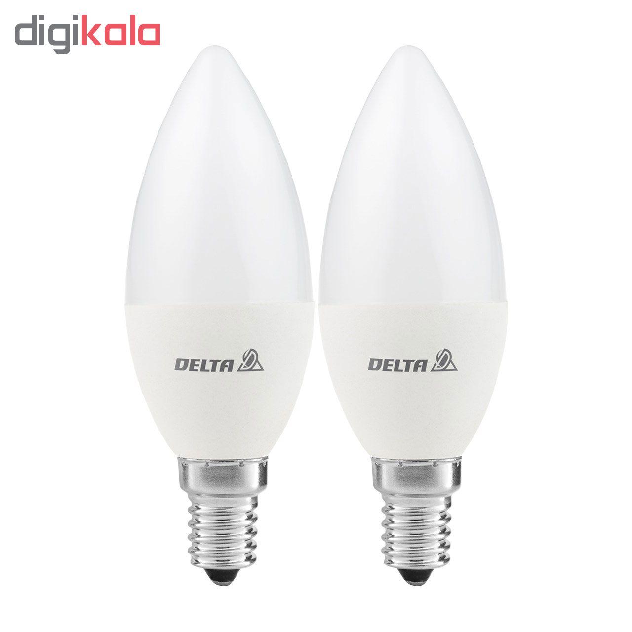 لامپ ال ای دی 7 وات دلتا مدل CNDL1 پایه E14 بسته دو عددی
