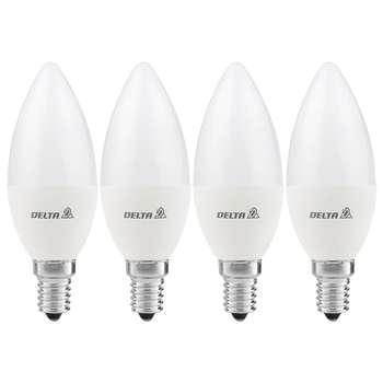 لامپ ال ای دی 7 وات دلتا مدل CNDL1 پایه E14 بسته 4 عددی
