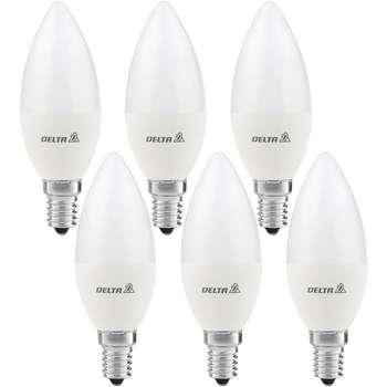 لامپ ال ای دی 7 وات دلتا مدل CNDL1 پایه E14 بسته 6 عددی