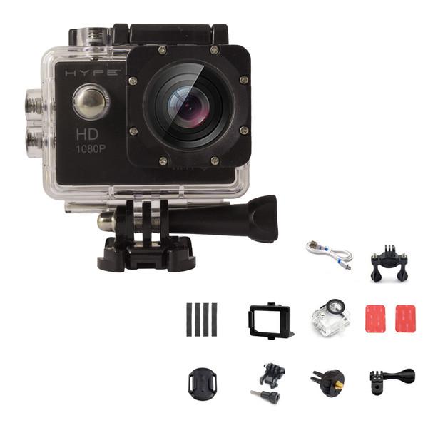 دوربین فیلم برداری ورزشی هایپ مدل I_FX به همراه لوازم جانبی