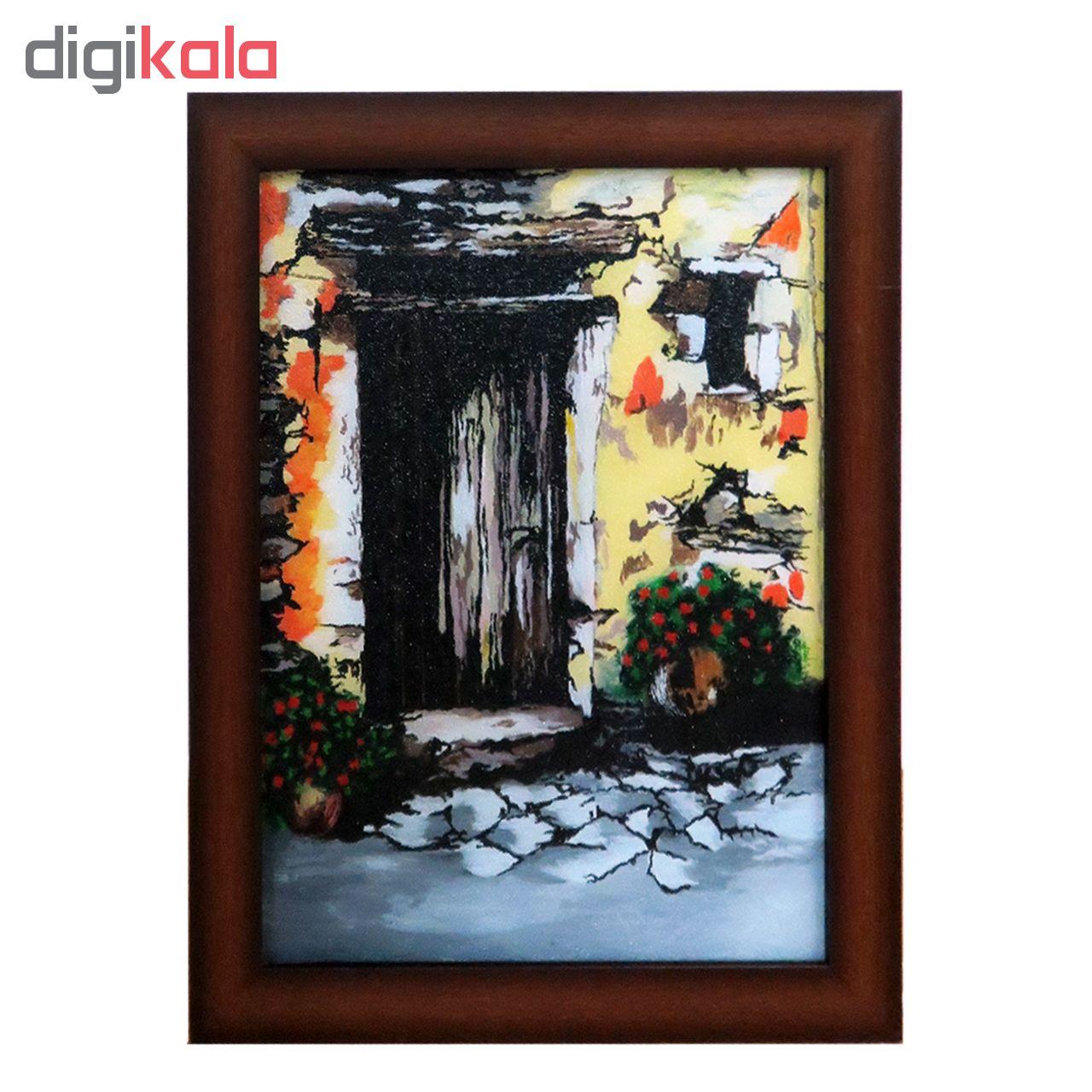 خرید                      تابلو نقاشی پشت شیشه طرح درب قدیمی