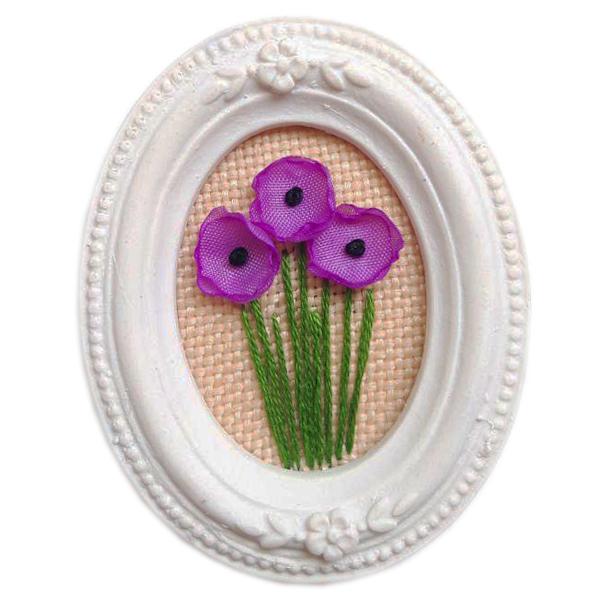 تابلو گلدوزی طرح گل شقایق