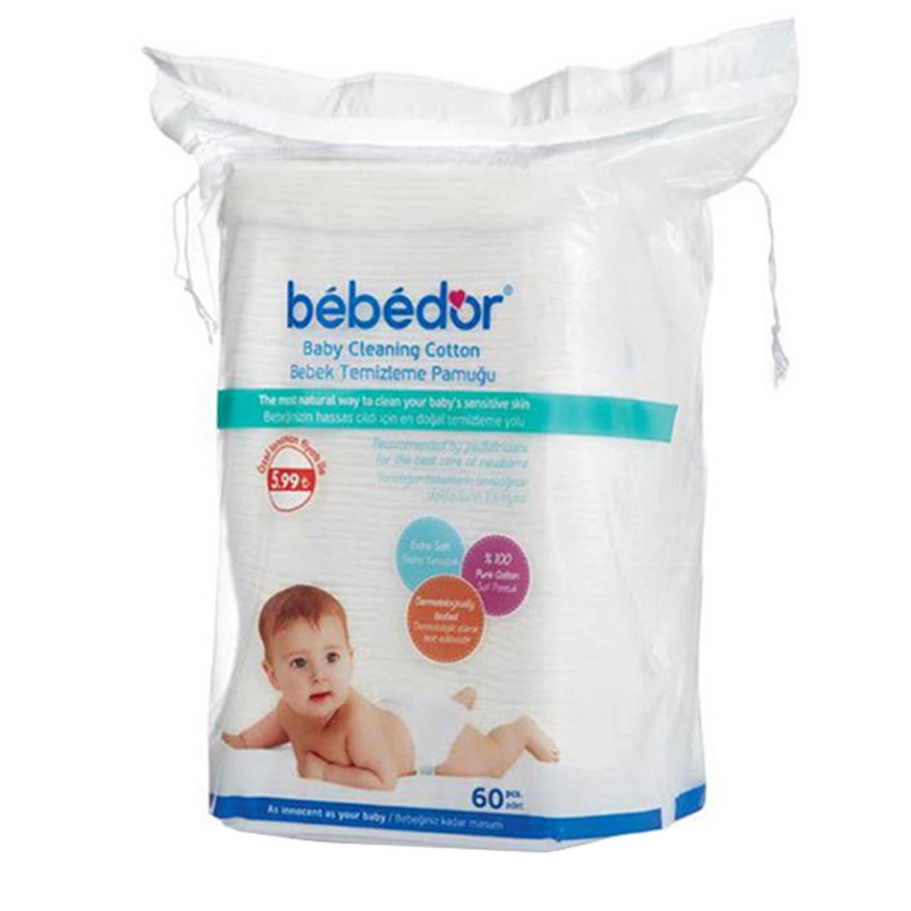 پد پاک کننده نوزادی ببه دور مدل Bd631 بسته 60 عددی