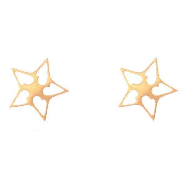 گوشواره زنانه طرح ستاره کد GO1134