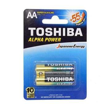 باتری قلمی توشیبا مدل Alpha Power بسته 2 عددی