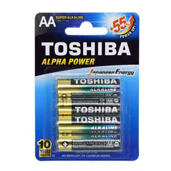 باتری قلمی توشیبا مدل Alpha Power بسته 4 عددی