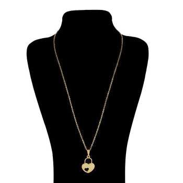 گردنبند زنانه طرح قلب و قفل کد B191