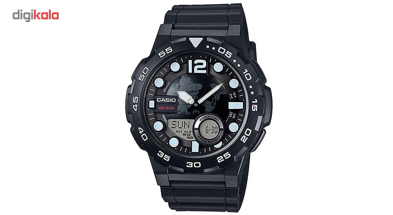 خرید ساعت مچی عقربه ای مردانه کاسیو مدل AEQ-100W-1AVDF